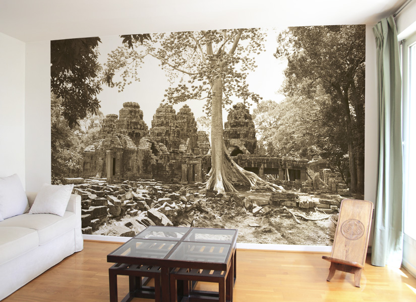 papier peint original d cor mural en dition limit e papier peint photo temple d 39 angkor. Black Bedroom Furniture Sets. Home Design Ideas