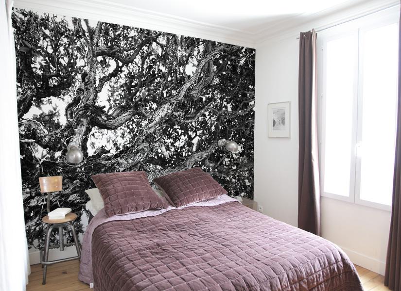 papier peint original d cor mural en dition limit e papier peint photo arbre ombrelle. Black Bedroom Furniture Sets. Home Design Ideas