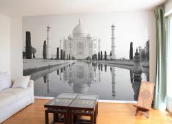 Papier peint Taj Mahal Noir et Blanc