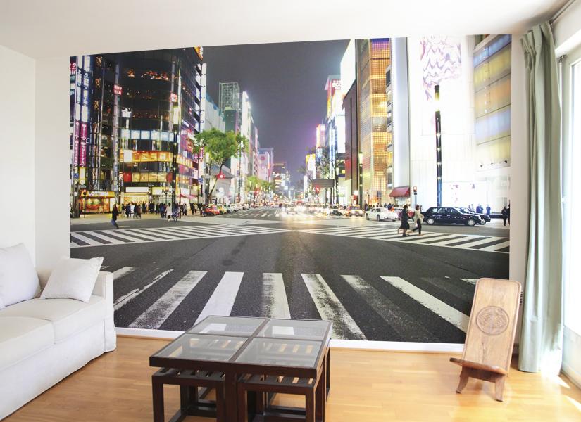 papier peint original d cor mural en dition limit e papier peint photo tokyo night. Black Bedroom Furniture Sets. Home Design Ideas