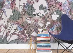 Papier peint Jungle Tropical Multicolore Medium