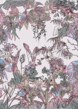 Papier peint Jungle Tropical Multicolore Medium