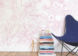 Papier peint Jungle Tropical Rose Medium
