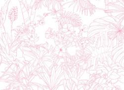 Papier peint Jungle Tropical Rose Big Panoramique