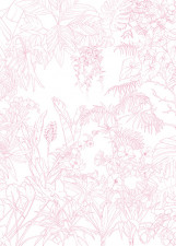 Papier peint Jungle Tropical Rose Medium