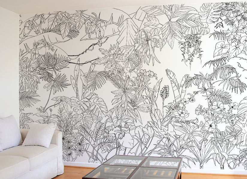 papier peint original d cor mural en dition limit e ohmywall papier peint jungle tropical