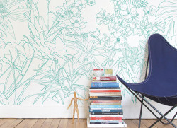 Papier peint Jungle Tropical Vert Turquoise Medium
