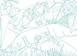 Papier peint Jungle Tropical Vert Turquoise Big Panoramique