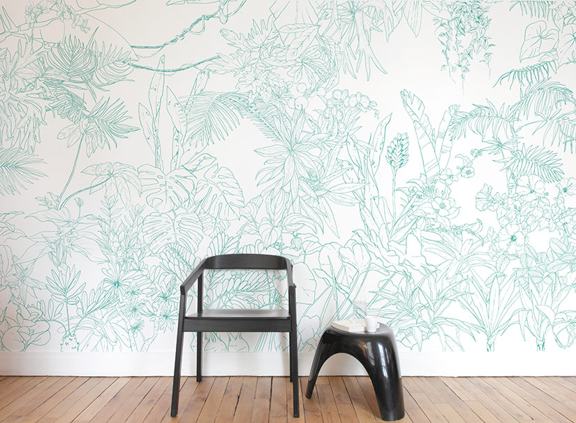 Papier-peint-jungle-tropical-vert-turquoise-caddous-alvarez-ohmywall-panoramique-1.jpg