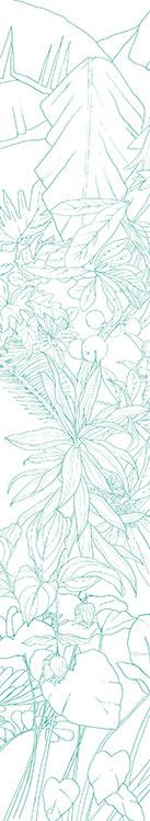 Papier peint original d cor mural en dition limit e for Papier peint turquoise et argent